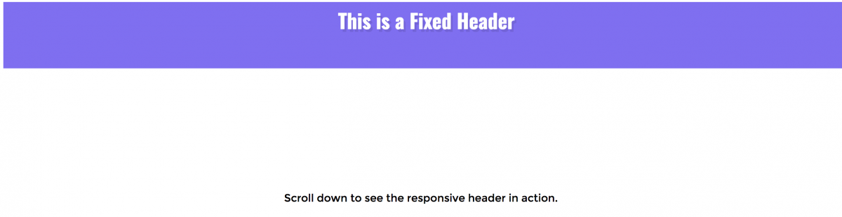 How to Create a Fixed Header